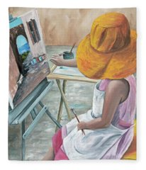 Fleece Blanket featuring the painting Annie by Darice Machel McGuire