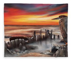 Another Bloody Sunset Fleece Blanket