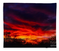 Another Tucson Sunset Fleece Blanket