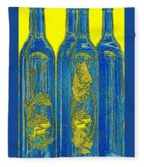 Antibes Blue Bottles Fleece Blanket