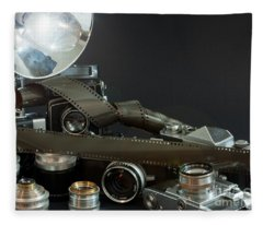 Antique Cameras Fleece Blanket