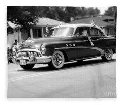 Antique Car Parade Fleece Blanket