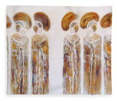 Antique Copper Zulu Ladies - Original Artwork Fleece Blanket