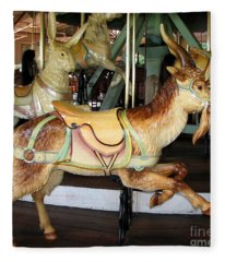 Antique Dentzel Menagerie Carousel Goat Fleece Blanket