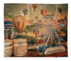 Antique Ferris Wheel Walt Disney World Fleece Blanket