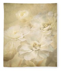 Antique Floral Fleece Blanket