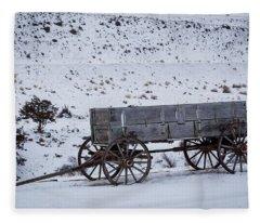 Antique Wagon Fleece Blanket
