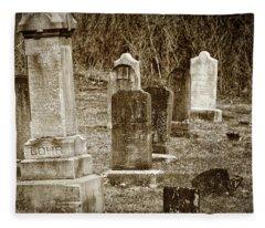 Apples Church Cemetery Fleece Blanket
