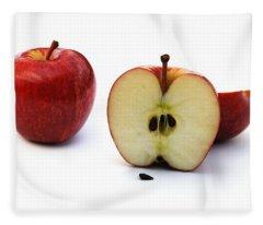Apples Still Life Fleece Blanket
