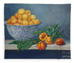 Apricots And Peaches Fleece Blanket
