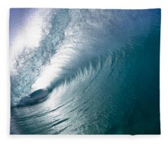 Aqua Curl Fleece Blanket