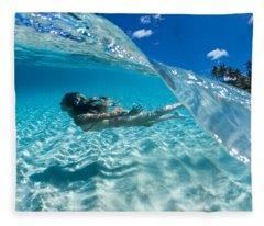 Aqua Dive Fleece Blanket