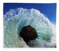 Aqua Dome Fleece Blanket