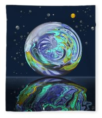 Aqua Orb Fleece Blanket