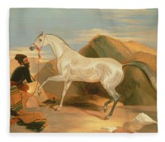 Arab Stallion Fleece Blanket