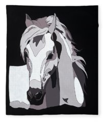 Arabian Horse With Hidden Picture Fleece Blanket
