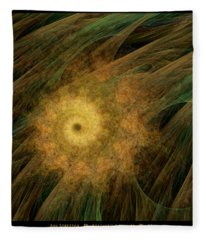 Arachne's Ammonite  Fleece Blanket