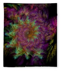Arachne's Fractal  Fleece Blanket