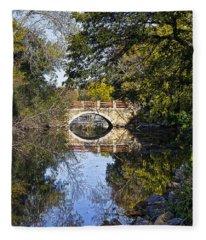 Arboretum Drive Bridge - Madison - Wisconsin Fleece Blanket