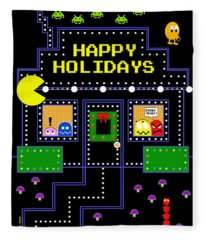 Arcade Holiday Fleece Blanket