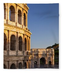 Arch And Coliseum  Fleece Blanket
