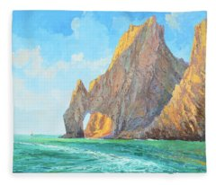 The Arch Of Cabo San Lucas 1 Fleece Blanket