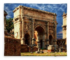 Arch Of Septimius Severus Fleece Blanket
