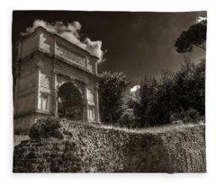 Arch Of Titus Fleece Blanket