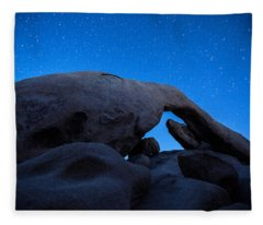 Arch Rock Starry Night 2 Fleece Blanket