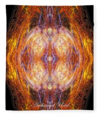 Archangel Uriel Fleece Blanket