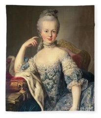 Archduchess Marie Antoinette Habsburg-lotharingen Fleece Blanket