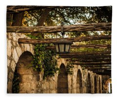 Arches At The Alamo Fleece Blanket