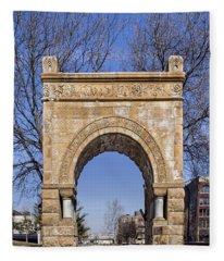 Arches - Gene Leahy Mall - Omaha Fleece Blanket