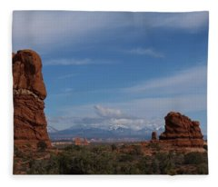 Arches National Monument Fleece Blanket