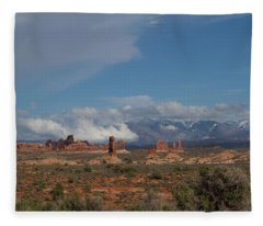 Arches National Monument Utah Fleece Blanket