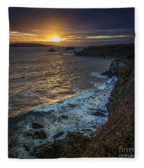 Ares Estuary Mouth Galicia Spain Fleece Blanket