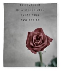 Aristotle Love Quote Fleece Blanket