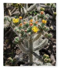 Arizona Cactus Fleece Blanket