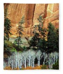 Arizona's Betatkin Aspens Fleece Blanket