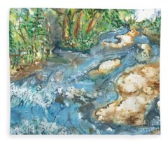 Arkansas Stream Fleece Blanket