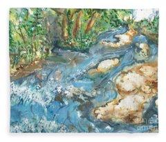 Arkansas Stream Fleece Blanket