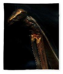 Armored Praying Mantis Fleece Blanket