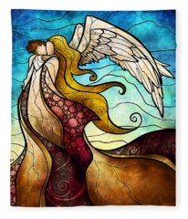 Arms Of The Angel Fleece Blanket