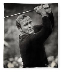 Arnold Palmer Pro-am Golf Photo Pebble Beach Monterey Calif. Circa 1960 Fleece Blanket