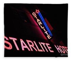 Starlite Hotel Art Deco District Miami 3 Fleece Blanket