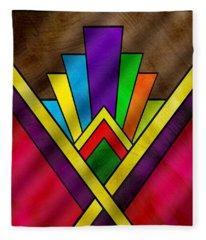 Art Deco Pattern 7v Fleece Blanket