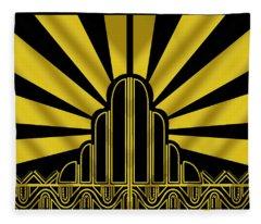 Art Deco Poster - Two Fleece Blanket