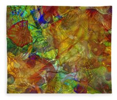 Art Glass Overlay Fleece Blanket