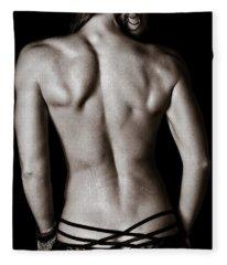 Art Of A Woman's Back Muscles  Fleece Blanket