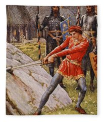 Arthur Draws The Sword From The Stone Fleece Blanket